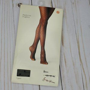 A New Day Dotted Black Tights